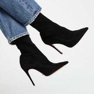 $260 SCHUTZ Mislane Black Stretch Suede High Heel
